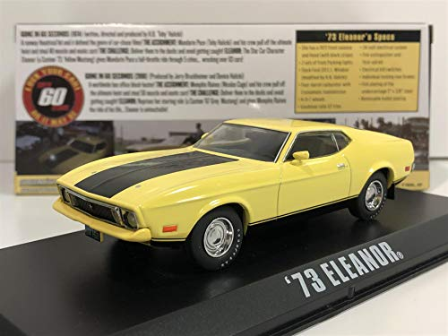 1973 Ford Mustang Mach 1 Yellow 'Eleanor' 'Gone in Sixty Seconds' Movie (1974) 1/43 by Greenlight 86412