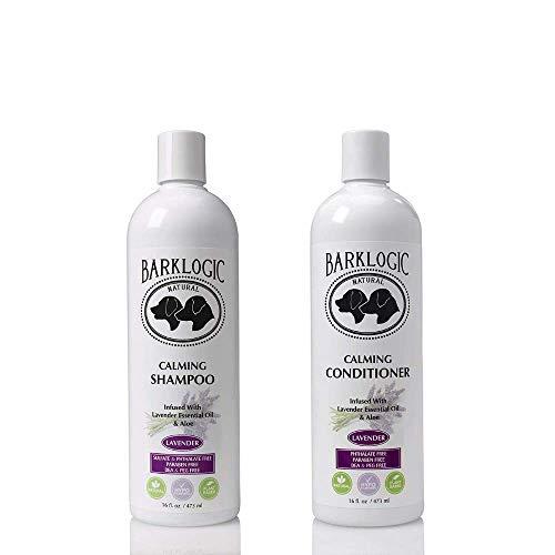 BarkLogic Calming Lavender Dog Shampoo and Conditioner Set - 16 oz - with Natural Essential Oils, Hypoallergenic, Plant-Based Gentle Formula for Sensitive Skin