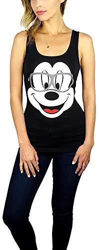 Disney Mickey Mouse & Minnie Mouse Hipster Nerdy camiseta de tirantes negro