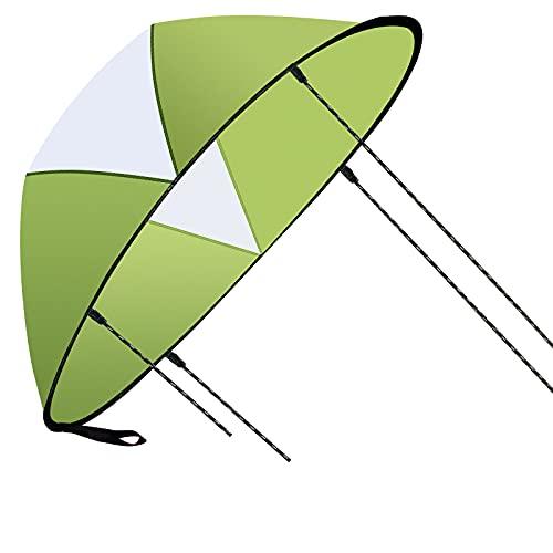 Velas Plegables para Kayak,118cm Vela de Viento para Kayak con PVC Ventana Transparente, Velas para Kayak Adecuado para Kayak Canoa Bote Inflable(Verde)