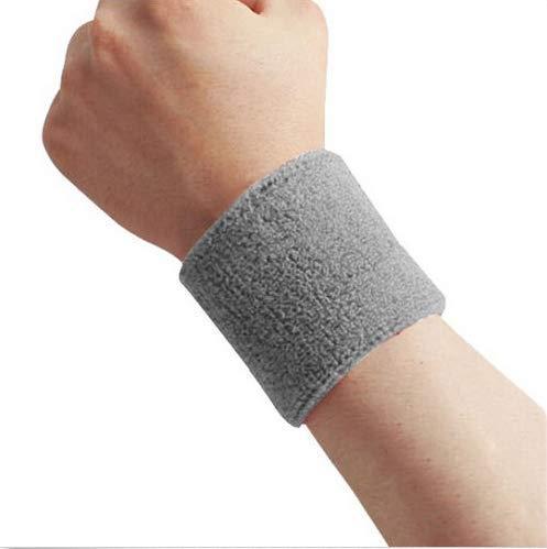 lehao 1 pulsera deportiva para el sudor, para deportes, yoga, entrenamiento, correr, última correa de seguridad deportiva (color: gris, tamaño: 8 x 8 cm)
