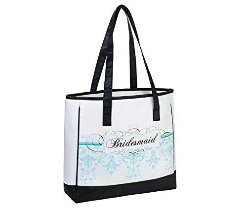 Lillian Rose Aqua Blue Bridesmaid Tote Bag Wedding Party Gift