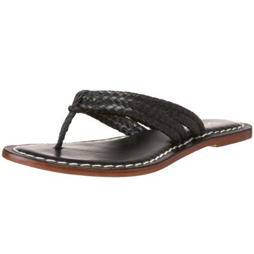 Bernardo Women's Miami Woven Flat Sandal,Black,5 M US