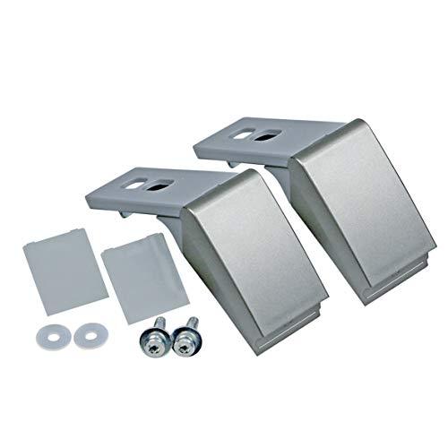 Reparaturset Scharnier zweitürig Türgriff Griff Kunststoff Metall silber grau ORIGINAL Liebherr 9590180 Kühlschrank Kühlgerät eingesetzt in CNES GSDES KSDPES KSBES KSVES CPES uvm