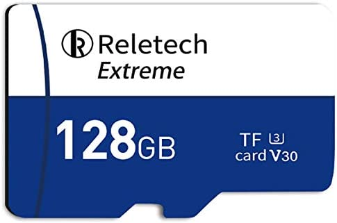 ReleTech 128GB UHS I TF Card Drone Micro SD Card Class 10 microSDXC Card with Adapter C10 U3 product image