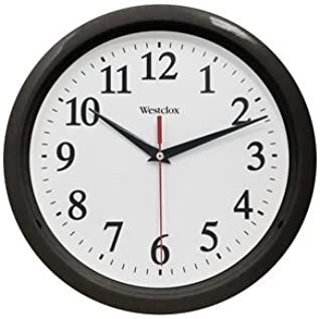 "Westclox 461861 Basic Wall Clock, Black, 10"","