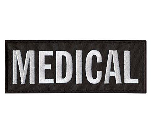 2AFTER1 Medical Large XL 10x4 Inch EMT EMS Medic Paramedic Tactical Bulletproof Vest Hook&Loop Patch
