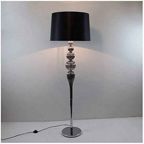 Vloerlamp - Kamer Vloerlamp Modern Retro Hotel Vloerlamp Rond Glas Vloerlamp Zwart
