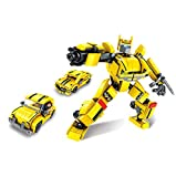 BAIDEFENG Nano Bloques De Construcción para Niños 3 En 1 Kit De Modelos De Robot Micro Ladrillos Rompecabezas 3D Mini Bloques DIY Juguetes De Construcción Educativos Regalo,B