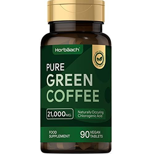 High Strength Green Coffee 21,000mg | 90 Vegan Tablets | Pure Green Coffee...