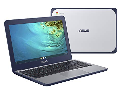 ASUS Chromebook C202XA Rugged & Spill Resistant Laptop, 11.6' HD, 180 Degree, MediaTek 8173C Processor, 4GB RAM, 32GB Storage, MIL-STD 810G Durability, Blue, Education, Chrome OS, C202XA-YB04-BL