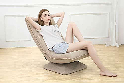 sedia divano regolabile pigro sdraio pieghevole 360 rotazione,3 posizioni regolabili poltrona relax gaming reclinabile bambini adulto Spugna ad alta densità,lavabile Carico massimo:150kg kaki