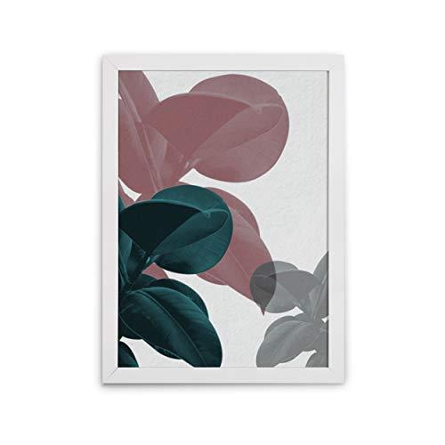 Quadro Decorativo Moldura Slim Branco Design Up Colorido 47x65