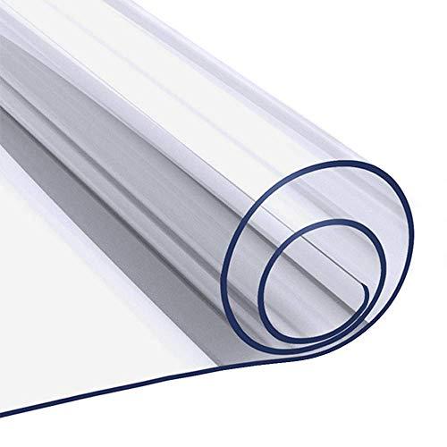 Mantel rectangular de plástico transparente para mesa de comedor, protector de mesa de cristal suave para mesa de café
