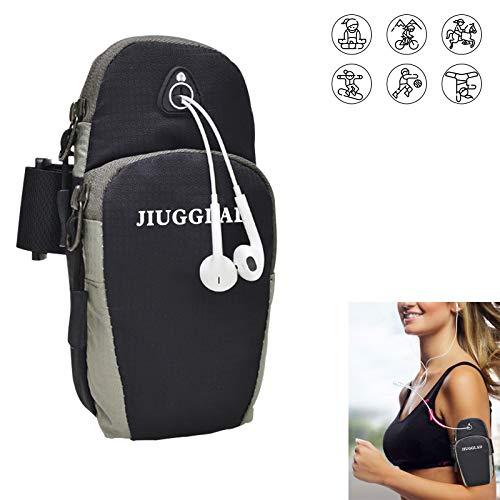 JIUGGLAD Fitness Running Armband Sport Phone Holder Bag Multi Pockets...