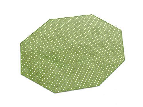 HEVO Vorwerk Bijou Petticoat grün Teppich | Kinderteppich | Spielteppich 200 cm Achteck Sonderedition
