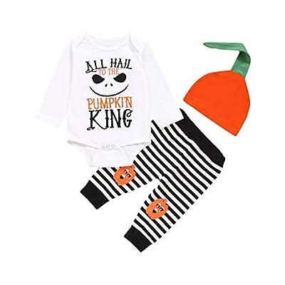 Amazon - Save 50%: TrulyBee Baby Boys Halloween Costume Outfit Set Pumpkin King Bodysuit…
