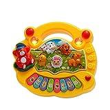 おもちゃ音楽ギフト Coolplayベビーキッズ幼児音楽教育動物農場ピアノ、電子鍵盤楽器のおもちゃ 楽しさと音楽感覚を養う (色 : 黄, Size : Ones)
