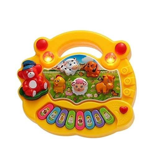 Muziek Speelgoed Coolplay Baby Kids Peuter Musical Educational Animal Farm Piano Elektronisch Toetsenbord Muziek Speelgoed Ontwikkel een Sense of Music (Color : Yellow, Size : Ones)