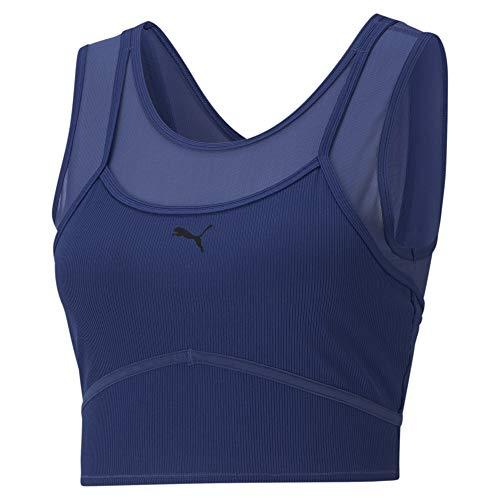 PUMA Studio Layered Crop Top Camiseta De Tirantes, Mujer, Elektro Blue, M