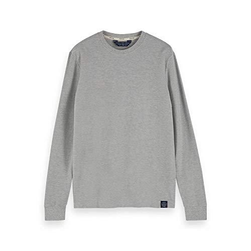 Scotch & Soda 155329 - Maglietta a maniche lunghe da uomo in jersey Quality Tee chiaro grigio Melange XL