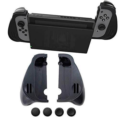 WULE Ajuste for el interruptor de Nintend Sujetadores tácticos TRACKEBLE TRACTOR APARTAMENTO Handgrip Handheld Shell Fit for Nintendo Switch NS Joycon Mango con ranuras del juego ( Color : Black )