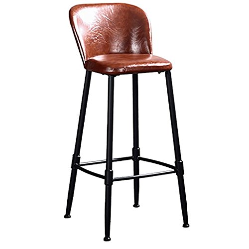 Tabouret barkruk, industriële kruk, ontbijtshocker, barkruk, vintage, massief hout, hoge voeten, barkruk, barstoel, smeedijzer, hoge kunst, vrijetijdsstoel