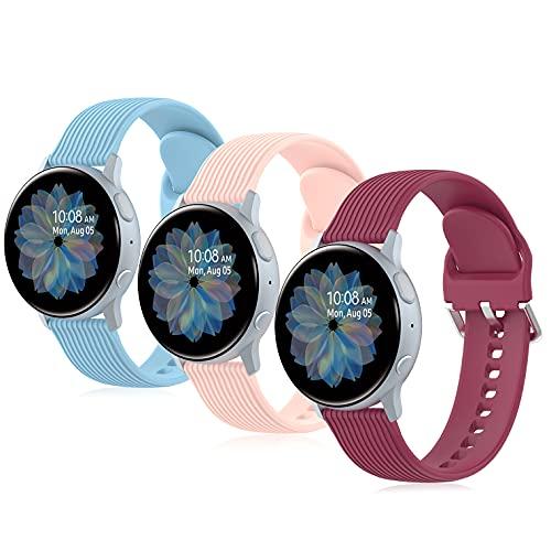 Bandas de repuesto compatibles con Samsung Galaxy Watch Active/Active 2 y Watch 3, 40 mm, 41 mm, 42 mm, 44 mm, Gear S2 Classic/Gear Sports
