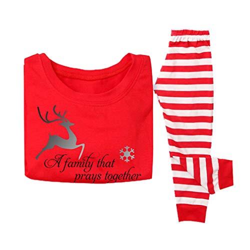 WEIMEITE Conjunto de Pijamas de naviPapá a Juego de naviPapá Mujeres Hombres Hombres Bebé Niños Pijamas de Rayas para niños Ropa de niños Niño 60