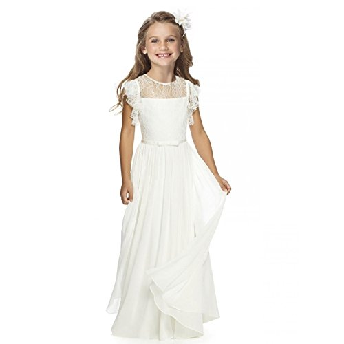 Sittingley Fancy Girls Holy Communion Dresses 1-12 Year Old Off White Size 12