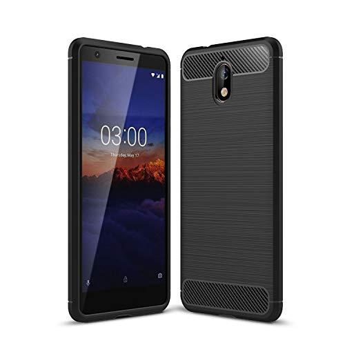 MRSTER Nokia 3.1 Cover, Custodia Protettiva in Fibra di Carbonio [Anticaduta AntiGraffio Antiurto] Protettivo Custodia per Nokia 3.1 (2018). XW Black