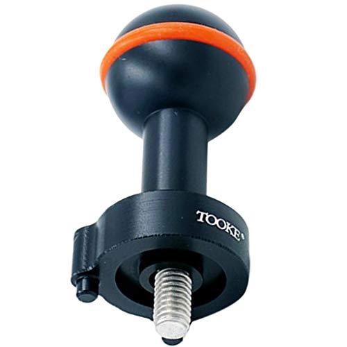 SM SunniMix Tauchen Fotografie Blinklicht Kugelgelenk Kugelkopf Adapter für INON Z330 Z240 S2000 D2000 Strobe - Schwarz
