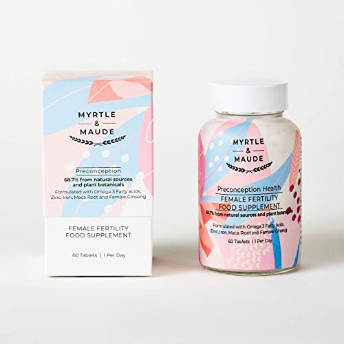 Myrtle & Maude Fertility Supplement for Women - 60 Tablets - Made in UK