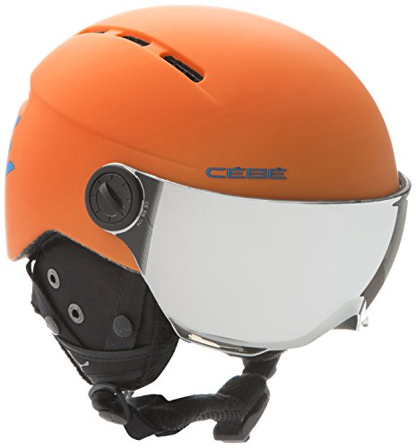 Cébé Fireball Junior Cascos de ski, Unisex niños, Matt Orange Blue, 49-54cm