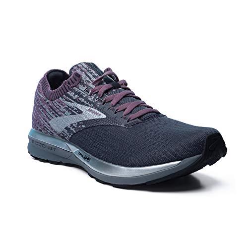 Brooks Womens Ricochet Running Shoe - Black/Grey/Arctic Dusk - B - 9.0