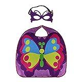 mariposa Capa de los niños, Capa de fiesta infantil, para cosplay, carnaval de Halloween, púrpura