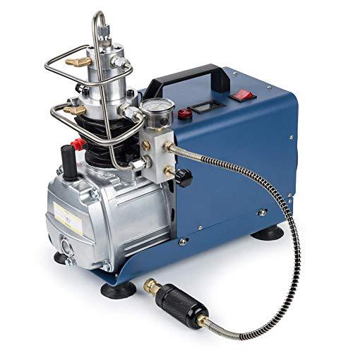 HYCy Hochdruckluftkompressorpumpe mit einstellbarem Druck Auto Stop 300BAR 30MPA 4500PSI, elektrische PCP-Luftpumpe mit Manometer für komprimiertes HPA Airsoft Paintball-Gewehr