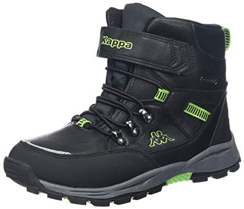 Kappa Unisex-Kinder SKUBB TEX Kids Klassische Stiefel, Schwarz (Black/Green 1130), 34 EU