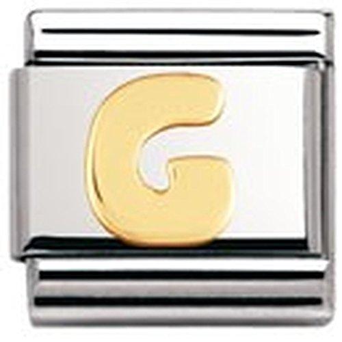 Nomination Composable Classic Buchstaben Edelstahl und 18K-Gold (G) 030101
