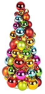 "Best Season LED-Kugelpyramide ""Ball Wreath"", beleuchtet, Material: Kunststoff/Metall circa 28 x 24 cm, buntbatteriebetrieben Vierfarb-Karton 700-02"