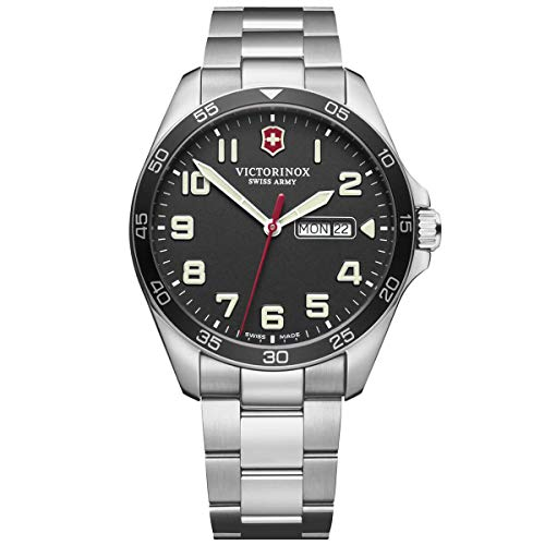 Victorinox Men's Fieldforce Analog Quartz Watch with Stainless Steel Strap, Metallic, 21 (Model: 241849)
