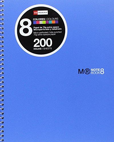 Basics Mr 43005, Cuaderno A5 con Rayado Horizontal, 200 Hojas, 7 mm, Tapa de Polipropileno, Azul