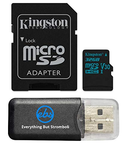 Kingston Micro SD MicroSD TF Flash Memory Card 32GB 32G Class 4 works with ABLEGRID GS8000L Night Vision HD 1080P Dashcam Camera w/ Everything But Stromboli Memory Card Reader