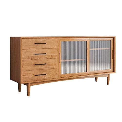 MAATCHH Aparador Grande Gabinete de aparador Cocina de Cocina Buffet de Almacenamiento de Comedor Madera Armario de Almacenamiento (Color : Wood, Size : 120x40x80cm)