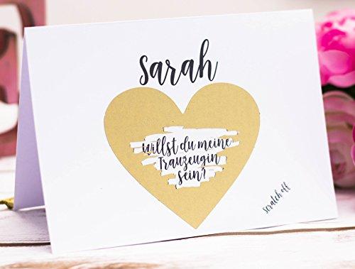 HWart Karte Willst du Meine Trauzeugin Sein, Rubbelkarte, Hochzeit, Hochzeitsgeschenk,...