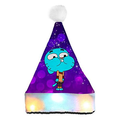 WeiTao Sombrero de Pap Noel con luces LED de color para nios y adultos