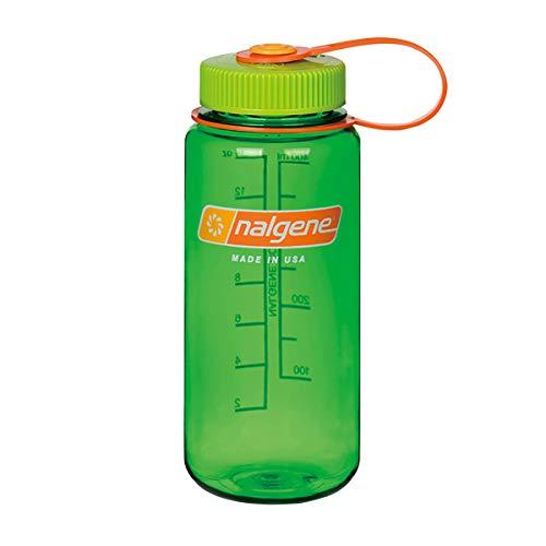 NALGENE ナルゲン 広口 0.5L TRITAN プラスチックボトル 水筒 MADE IN USA(91423 MELON BALL)ジャグキャップ登山 サイズ