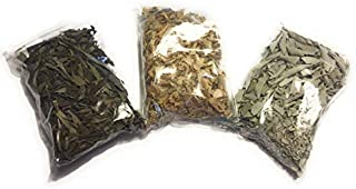 Loose Leaf Variety Smudge Kit Includes White Sage, Lavender and Palo Santo Flakes