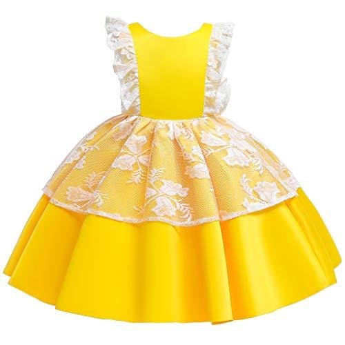 Vectry Vestidos para Bautizo Vestidos De Niña De Cuadros Vestidos De Niña De Cuadros Vestidos Niña 4 Años Ropa Niña Online Outlet Vestidos De Fiesta para Niña De 14 Años Vestido Amarillo