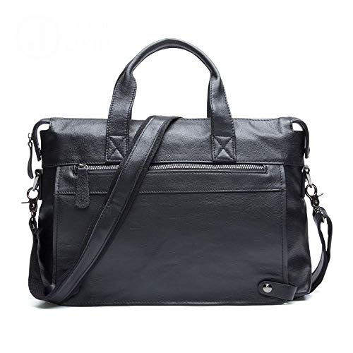 Dirgee Mensajero para Hombre Bolsa de Cuero Vintage maletín de Hombro de 13 Pulgadas portátil portátil Tableta Bolso (Color: Negro) (Color : Brown)